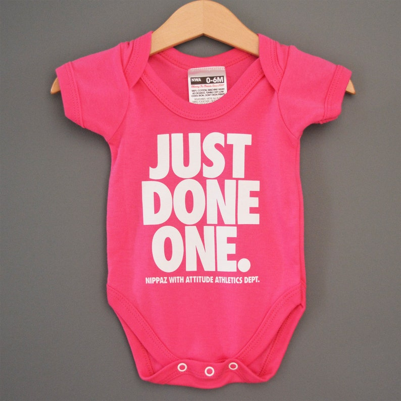 346ace7870e7 Just Done One Hot Pink Baby Onesie Romper   Babygrow