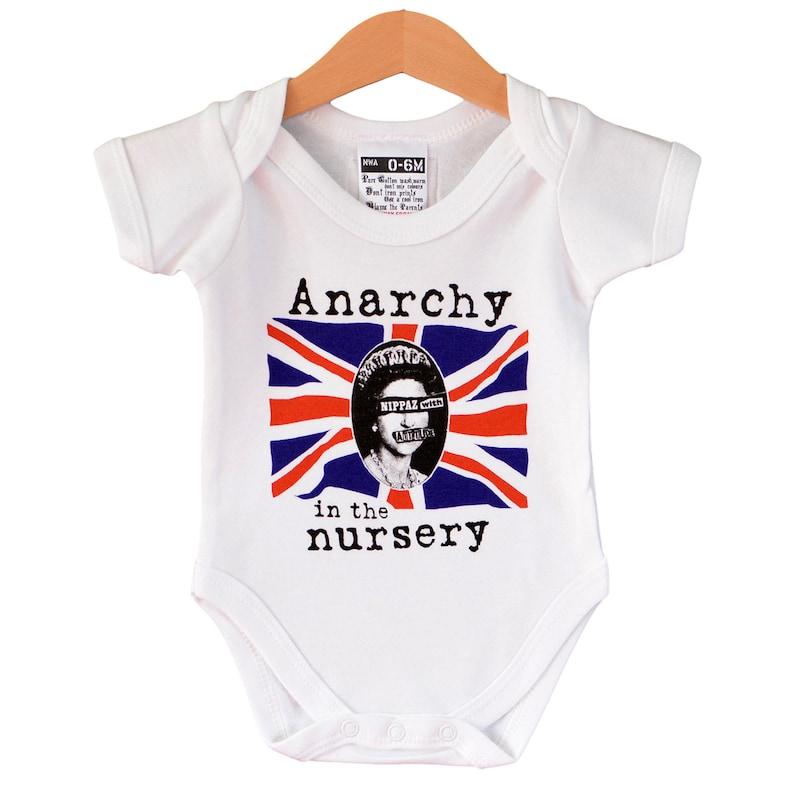 faf0e6a4 Punk baby Anarchy in the Nursery baby onesie. Alternative | Etsy