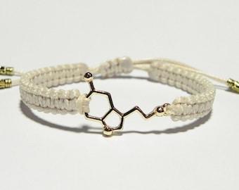Serotonin Bracelet, Chemistry Bracelet, Serotonin Jewelry, Chemistry Jewelry, Serotonin Bracelet, Gift for Chemist, Molecule Bracelet