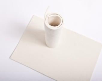 3mm 100% Merino Wool Felt  7'' x 11'' ( 20x30cm) Color white Nr.1