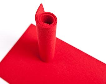 3mm 100% Merino Wool Felt  7'' x 11'' ( 20x30cm) Color Red Nr. 11