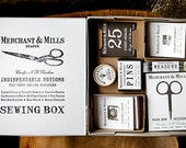 Nine Sewing Notions in a lovely embossed box from Merchant & Mills