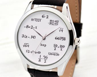 Math Watch | Funny Gifts | Math Teacher Gift | Watches for Men and Women | Math Gifts | Math Jewelry | Cool Graduation Gifts | FREE SHIPPING