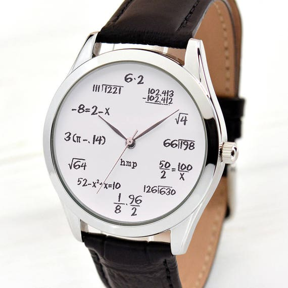 math watch funny gifts math teacher gift watches for men etsy