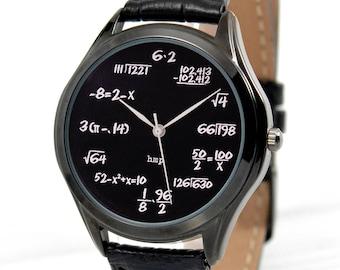 Black Math Watch | Black Watch | Math Gifts | Gifts For Men | Math Teacher Gift | Graduation Gift | FREE SHIPPING