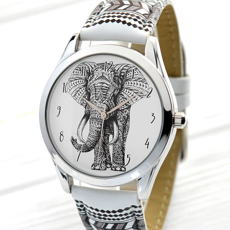 e111f04b5e79c Tribal Elephant Watch Birthday Gift for Him Mens Watch