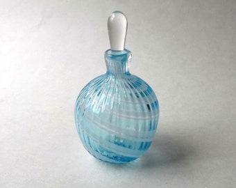 Medium Perfume Bottle - Lighr Blue White : DISASTER RELIEF