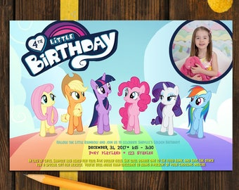 my LITTLE PONY Birthday Invitation - Printable Custom Photo