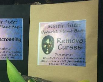 Remove Curses Spiritual Bath Plant Bath Free Shipping Shaman Wicca Voodoo Santeria Magick