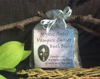 Vampire Chaser Spiritual Bath Sea Salt and Herbal Bath Free Shipping Shaman Wicca Hoodoo Voodoo Magick