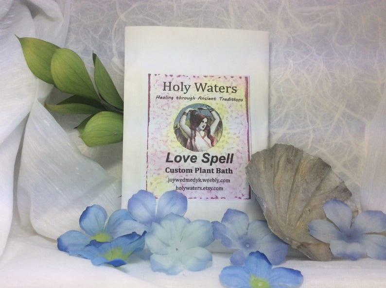 Love Spell Herbal Plant Bath Free Shipping Spiritual Bath, Shaman Hoodoo,  Voodoo, Wicca