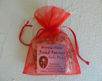 Road Opener Spiritual Bath Sea Salt and Herbal Bath  Free Shipping Eleggua, Legba, Shaman, Magick