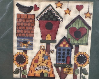 """COUNTED CROSS STITCH - Dimensions Kit """"Blessing Our Home"""" Treasured Thought Counted Cross Stitch with Printed Verse"""