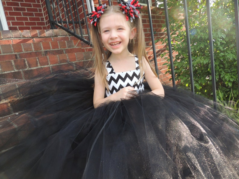 The Hair Bow Factory Black and White Chevron Tutu Dress Size image 0