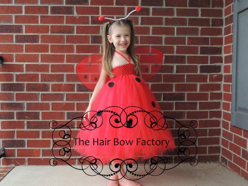 The Hair Bow Factory Ladybug Lady Bug Costume Size 12-24 image 0