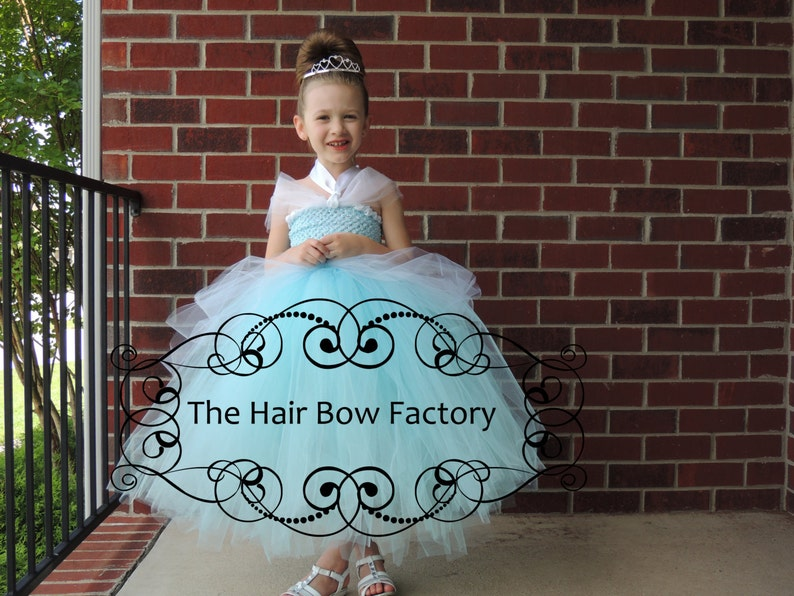 The Hair Bow Factory Blue Princess Tutu Dress Size 12-24 image 0