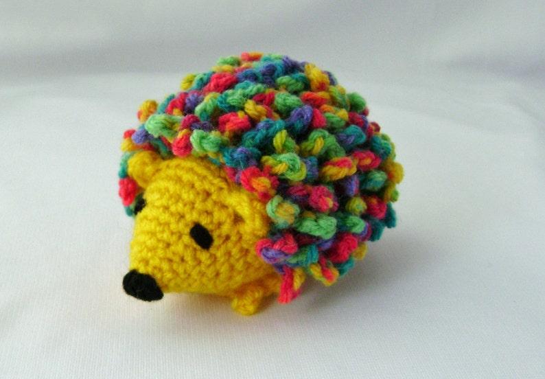Haley the Hedgehog Crocheted Stuffed Amigurumi Toy yellow made image 0
