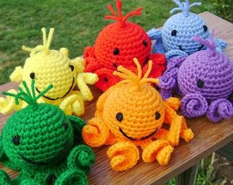 Rainbow Amigurumi Octopi - Stuffed Crocheted Toy