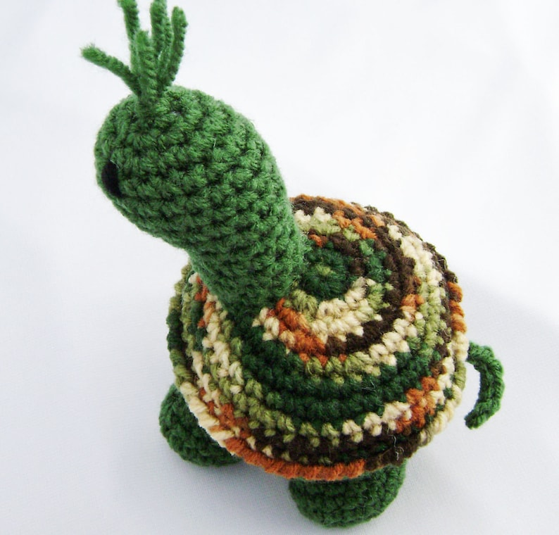 Sarge the Traditional Green Turtle Crocheted Amigurumi Stuffed image 0
