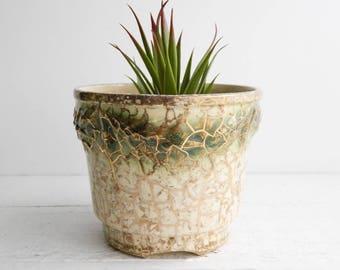 Vintage Grecian McCoy Planter - Mid Century Ceramic Pottery - Modern Design Flower Pot