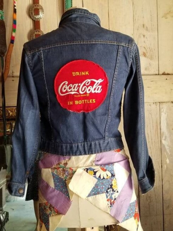 1940s denim blue Jean jacket with 1950s coke patch