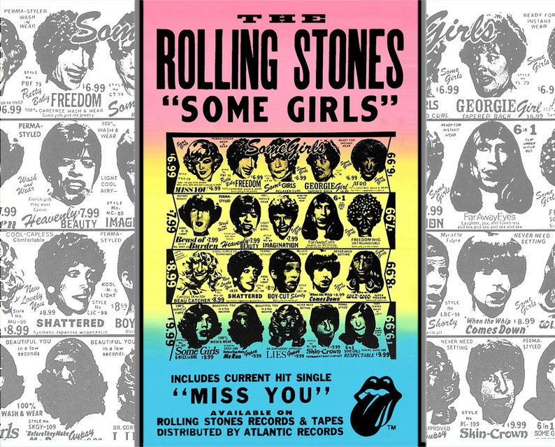 ROLLING STONES • 'Some Girls' Poster Art Replicas Of The 1978 Originals •  Digitally Restored • 11x14 & 16x20s Get Free Shipping!
