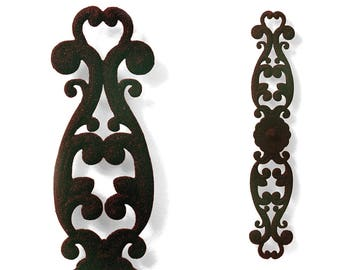 "Wrought Iron Style Balcony Panel • Vintage New Orleans Greek Revival Design • Classic & Decorative • Reinforced Cast Steel Replica • 30""H"
