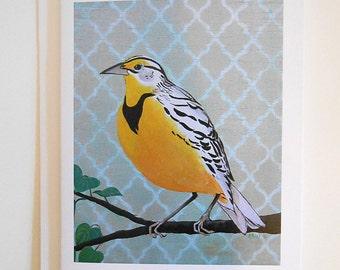 Meadowlark Blank Note Card