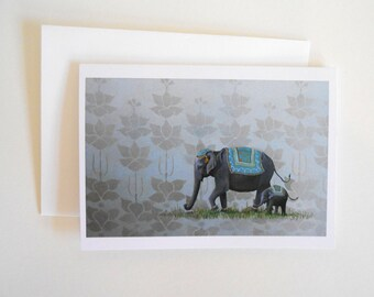 Elephant Blank Note Card