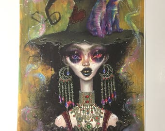 "Marla and The Mood Ring Cats. 17x10"" art print"