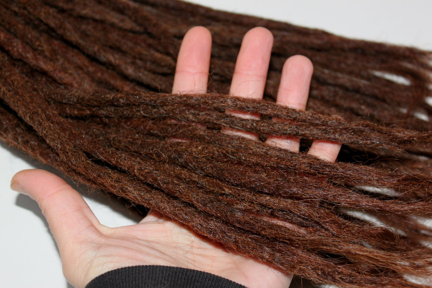 40 High Quality Dark Brown Human Hair Dreadlock Extensions 12