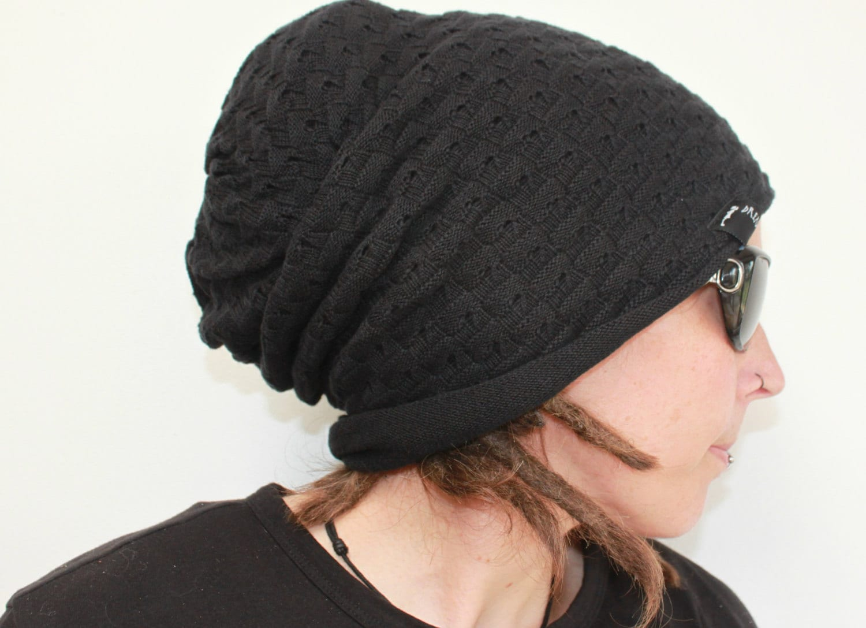 4c5baaa58f0 Xl hat in Black oversized super soft dread beanie - dread hat ...