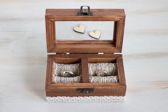 Wedding Ring Box Personalized Wedding Box Engraved Ring Bearer Etsy