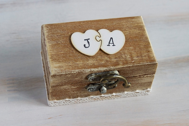 Wedding Ring Box Ring Bearer Box Custom Ring Box Rustic Wedding Box Pillow Alternative Customizable Ring Box Engagement Box Ring Box Holder