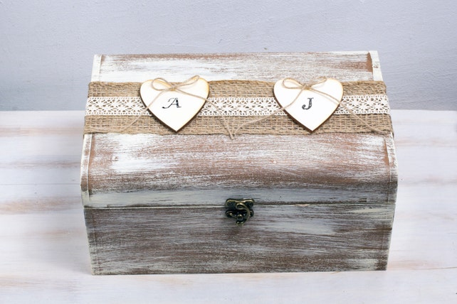 Rustic Card Box Personalized Wedding Card Box Wooden Keepsake Box