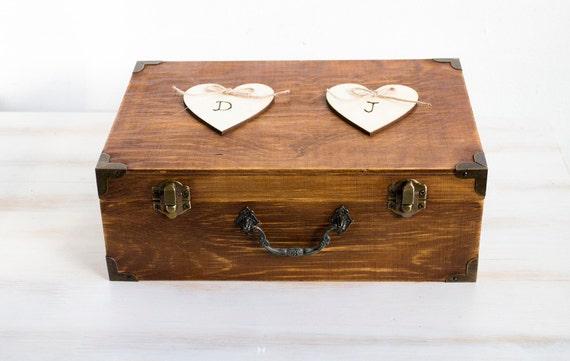Rustieke Bruiloft Kaart Vak Houder Houten Keepsake Box Houten Borst Gepersonaliseerde Bruiloft Kaart Vak Aanpasbare Kaart Vak Vak Bruiloft