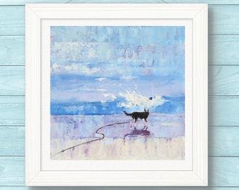 Border Collie ART PRINT. Illustration. Sheep Dog, Home Decor, Wall Art, Pet Gift.