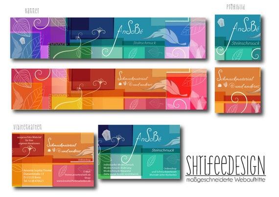 Design Paket Logo Shopbanner Karte Flyer Co