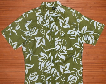 Men's Vintage 1950s Hawaiian Holiday Flower Power Shirt - S - The Hana Shirt Co