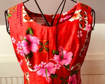 Ladies Vintage 60s-70's Tropical Treasure Luau Dress by Royal Hawaiian-S-The Hana Shirt Co