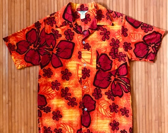 Men's Vintage 60s-70s Made in Hawaii Atomic Floral Aloha Shirt-S-The Hana Shirt Co
