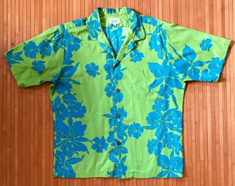 Men's Vintage 60s-70s Surf Line Hawaii Grassroots Aloha Shirt-M/L-The Hana Shirt Co