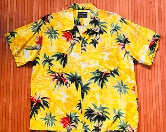 Men's Vintage 60s-70s Sr. Clifford Sunny Days in the Tropics Aloha Shirt-Med-The Hana Shirt Co
