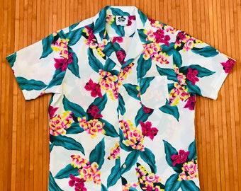 Men's Vintage 70's Hilo Hattie Hawaiian Floral Shirt-LG-The Hana Shirt Co