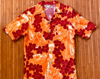 Men's Vintage California Polynesian Wahine Aloha Shirt-XS-The Hana Shirt Co