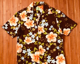 Men's Vintage Ui Maikai Fall Fusion Hawaiian Shirt-S-The Hana Shirt Co