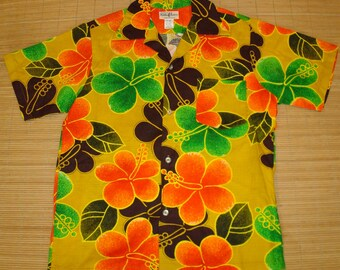 Mens Vintage 60s Hukilau Fashions Wild Child Hawaiian Shirt - M -  The Hana Shirt Co