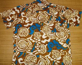Mens Vintage 60's Cotton Hawaiian Aloha Shirt by Luau - L -  The Hana Shirt Co