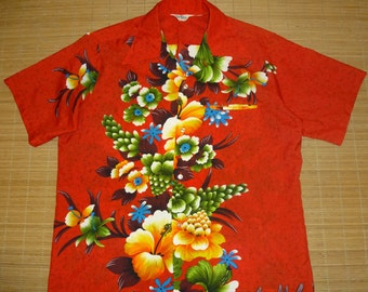 Vtg Hawaiian Shirt 2-3XL