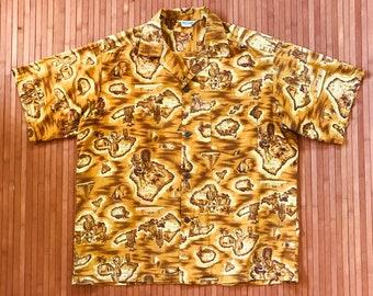 Men's Vintage 50s-60s Made in Hawaii Island Style Aloha Shirt-XXL-The Hana Shirt Co
